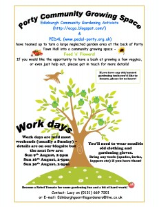 Porty Community Garden Poster (click to download larger version for printing)