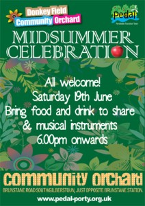 Poster for Orchard Midsummer Celebration