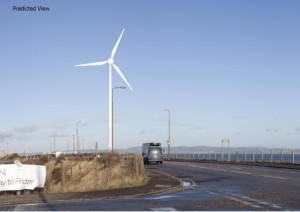 What the proposed wind turbine might look like