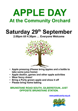 Orchard poster Apple Day 2012