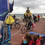 Bike Full Day - getting in the wayof the cyclists on the Prom - sorry!