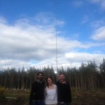 Tom, Carolyn and Vijay at the wind turbine site.